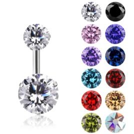 Piercing nombril Zircon