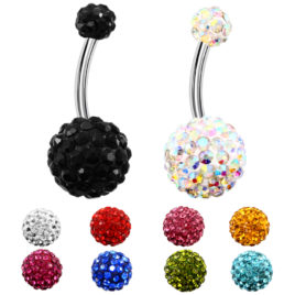 Piercing nombril scintillant